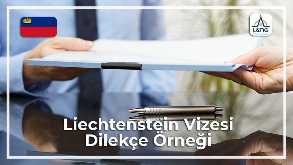 Vizesi Dilekçe Örneği Liechtenstein