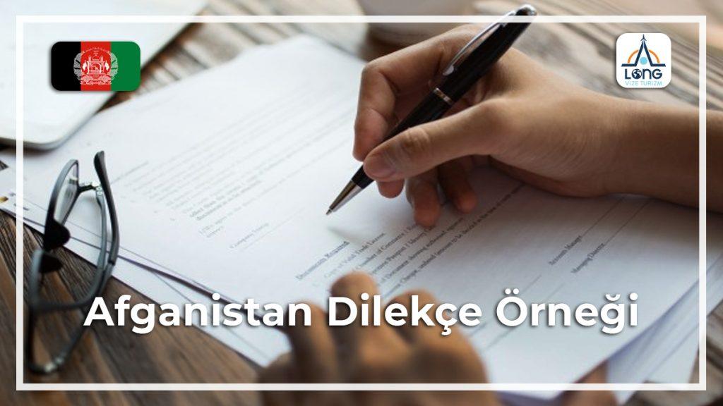 Dilekçe Örneği Afganistan