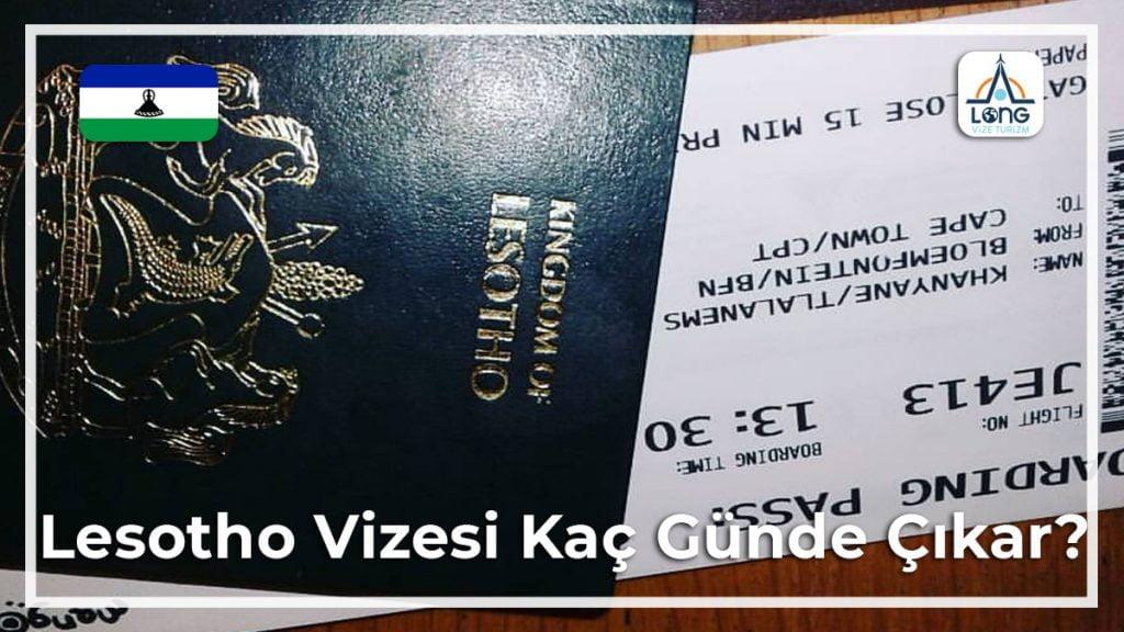 Vizesi Kaç Günde Çıkar Lesotho