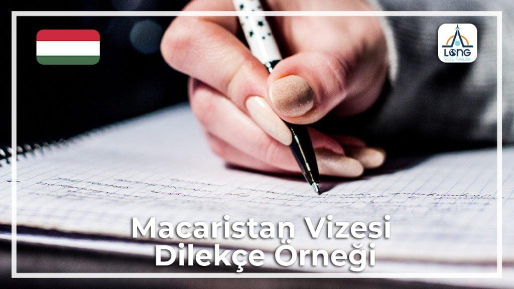 Vizesi Dilekçe Örneği Macaristan