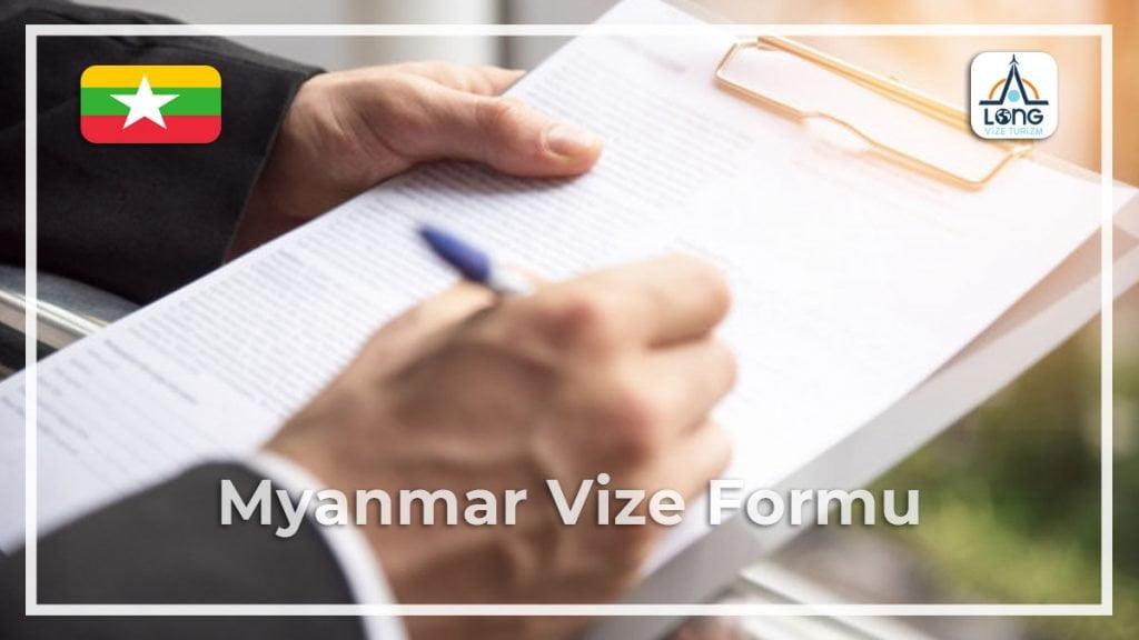 Vize Formu Myanmar
