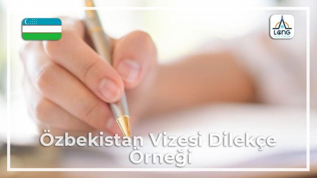 Vizesi Dilekçe Örneği Özbekistan