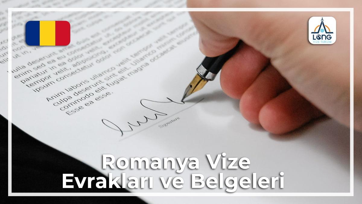Romanya Vizesi İçin Gerekli Belgeler Ve Evraklar