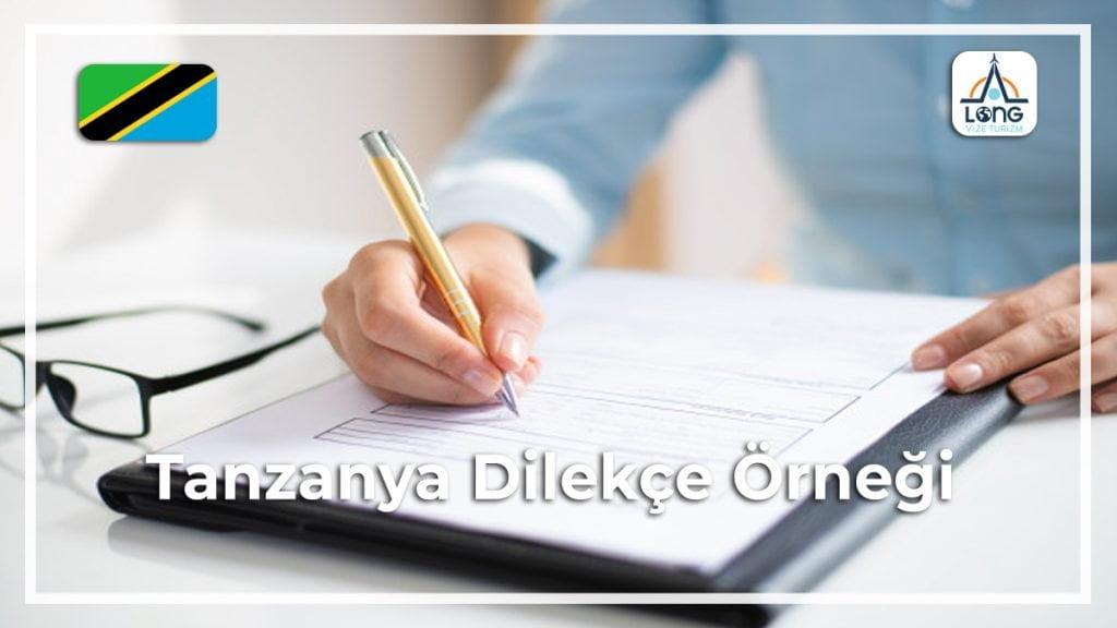 Vizesi Dilekçe Örneği Tanzanya