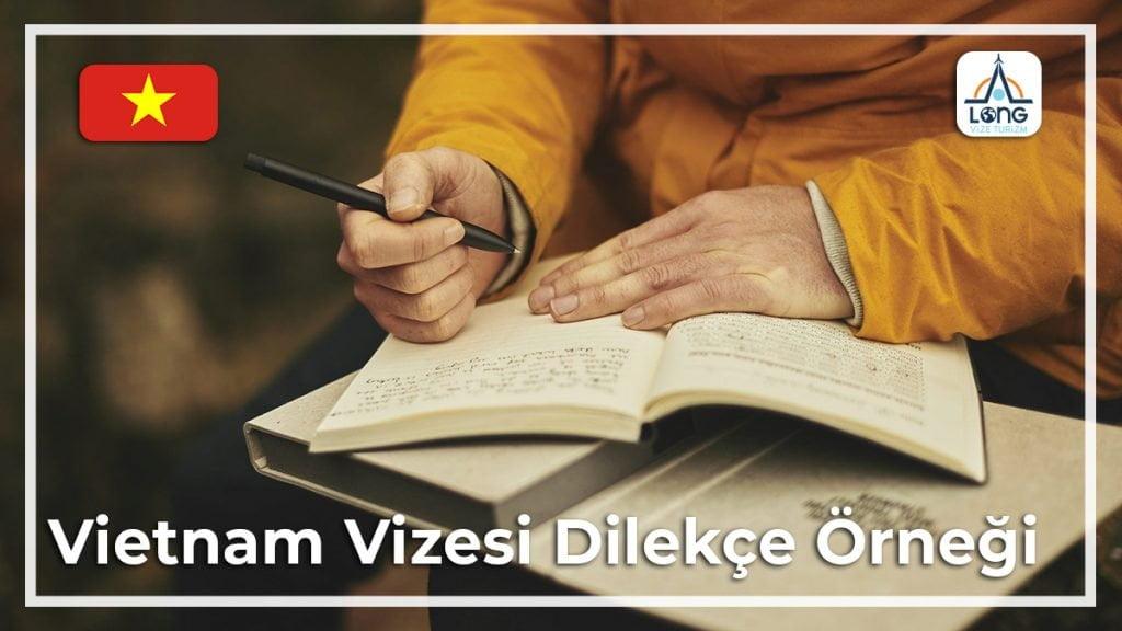 Vizesi Dilekçe Örneği Vietnam